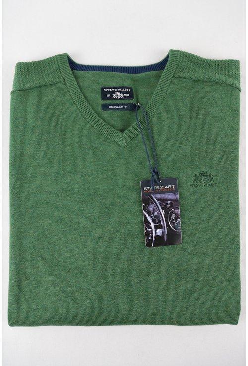 Pulover verde cu anchior