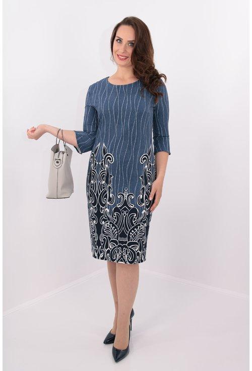 Rochie cu bordura si dungi