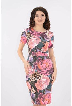 Rochie cu imprimeu floral roz