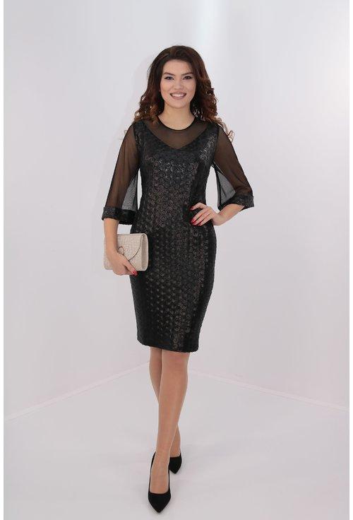 Rochie cu paiete negre