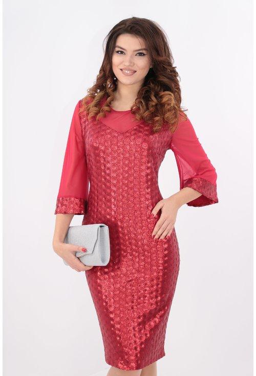 Rochie cu paiete rosii