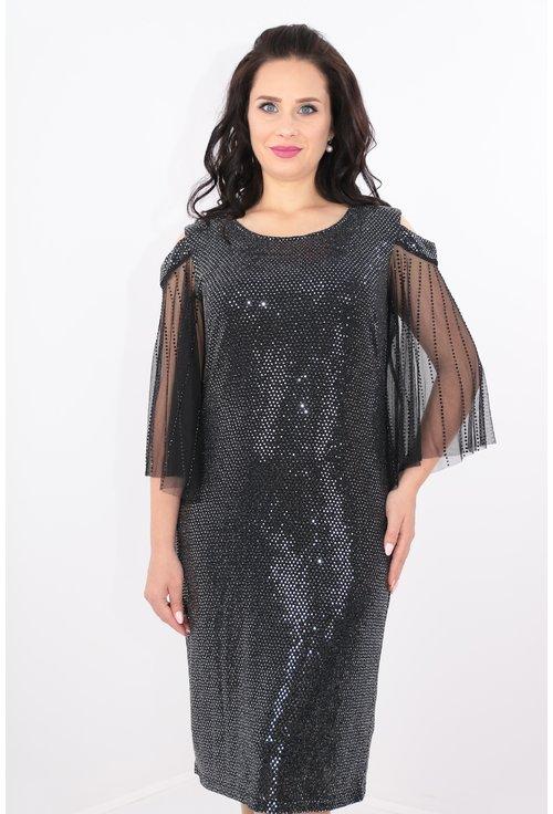 Rochie eleganta argintie