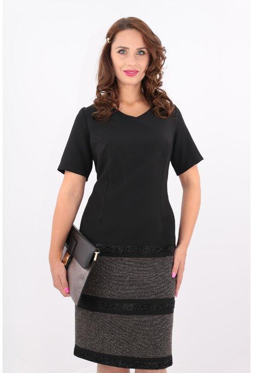Rochie neagra cu bordura