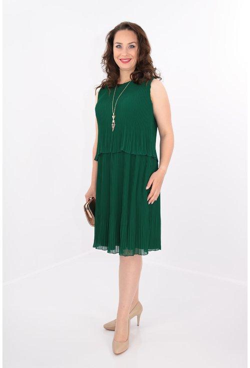 Rochie plisata verde