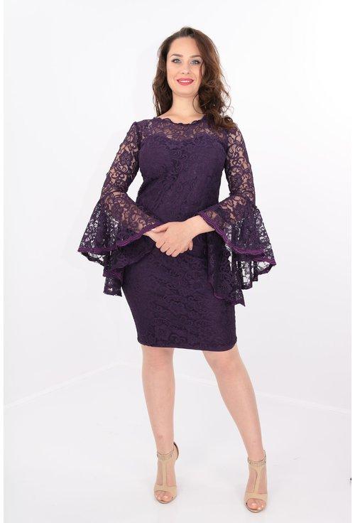 Rochie violet din dantela