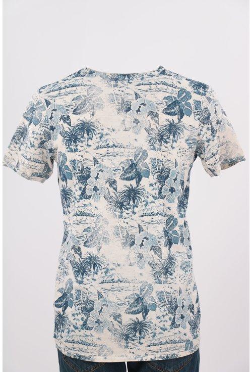 Tricou Jack&Jones cu print floral albastru
