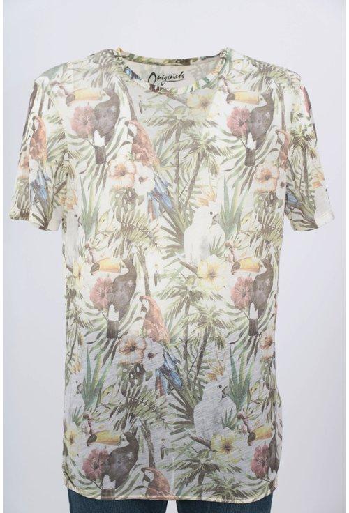 Tricou Jack&Jones cu print tropical