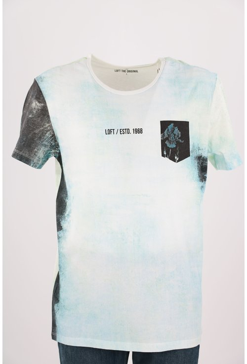 Tricou Loft bleu in degrade