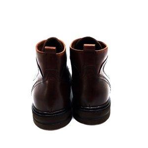 Ghete din piele naturala pentru barbati Leofex - 983 Red Wood