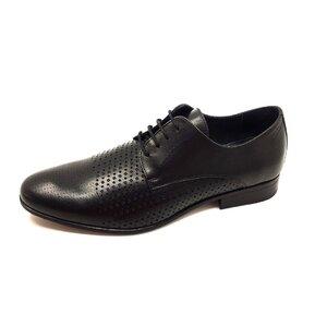 Pantofi barbati eleganti din piele naturala Leofex- 823-1 Negru Box