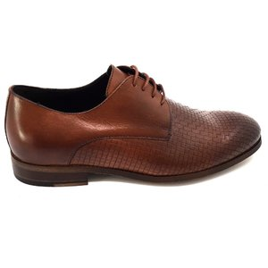 Pantofi barbati eleganti din piele naturala Leofex- 897-1 Cognac Box Presat