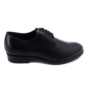 Pantofi barbati eleganti din piele naturala Leofex - 931-1 Negru Box