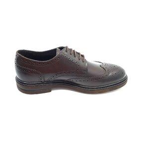 Pantofi barbati eleganti din piele naturala Leofex- 996 Mogano