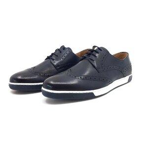 Pantofi casual barbati din piele naturala Leofex - 511 blue box