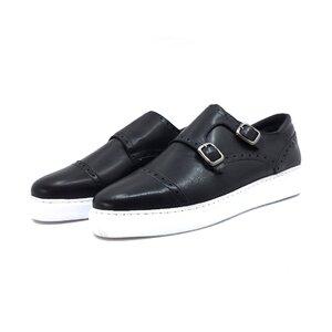 Pantofi casual barbati din piele naturala, Leofex - 600 negru box