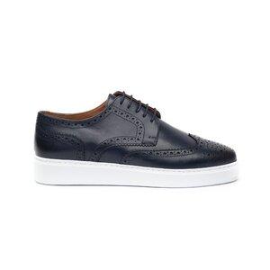 Pantofi casual barbati din piele naturala, Leofex - 601 Blue box