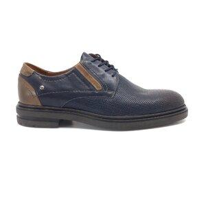 Pantofi casual barbati din piele naturala Leofex - 603 Blue+taupe box