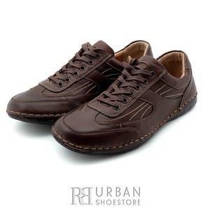 Pantofi casual barbati din piele naturala, Leofex - 620 maro box