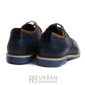 Pantofi casual barbati din piele naturala, Leofex - 787 blue box