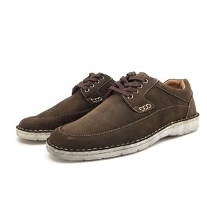 Pantofi casual barbati din piele naturala,Leofex-877 Maro Nabuc