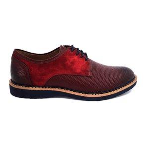 Pantofi casual barbati din piele naturala,Leofex- 938 Visiniu Box