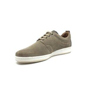 Pantofi casual barbati din piele naturala,Leofex - Mostra Abel gri velur