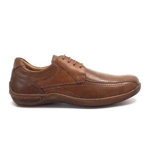 Pantofi casual barbati din piele naturala, Leofex - Mostra Matei 1 Cognac Box