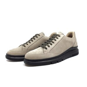 Pantofi casual barbati din piele naturala, Leofex -  Mostra Sabin taupe nabuc