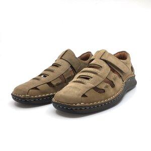Pantofi casual barbati,perforati din piele naturala, Leofex - 596 taupe nabuc