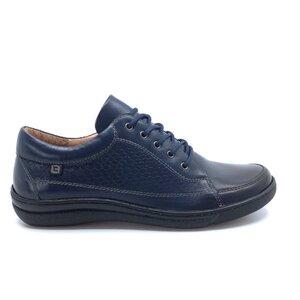 Pantofi casual dama  din piele naturala, Leofex - 092-1 Blue box