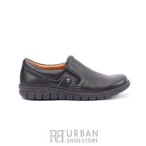 Pantofi casual dama din piele naturala,Leofex  - 093 Negru Box