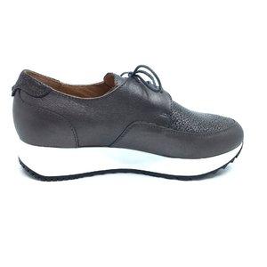 Pantofi casual dama din piele naturala,Leofex - 102 Bronz Serigrafiat