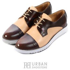 Pantofi casual dama din piele naturala,Leofex - 399-1 taupe-maro box