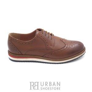 Pantofi casual barbati din piele naturala, Leofex - 846 cognac box