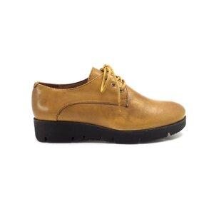 Pantofi casual dama din piele naturala, Leofex - 200 Mustar Box