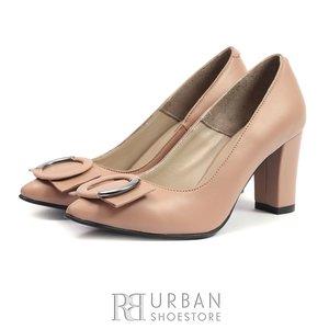Pantofi eleganti dama din piele naturala- 1918 Nude