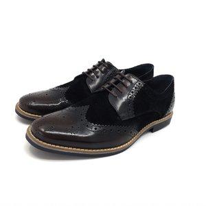 Pantofi casual barbati din piele naturala, Leofex - Mostra 804-2 Maro