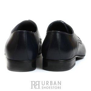 Pantofi eleganti barbati din piele naturala de bivol, Leofex - 775-2 blue box