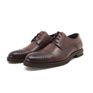 Pantofi casual barbati din piele naturala Leofex - Mostra 537-1 red wood box
