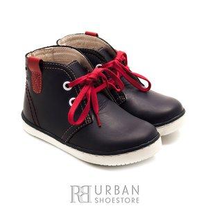 Pantofi din piele naturala box, pentru copii – 107-c blue