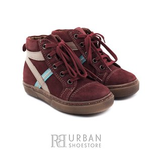 Pantofi din piele naturala intoarsa velur pentru copii – 104 rosu