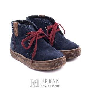 Pantofi din piele naturala intoarsa pentru copii – 107-c blue