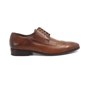 Pantofi eleganti barbati din piele naturala box, Leofex - Mostra Eduard Cognac Box
