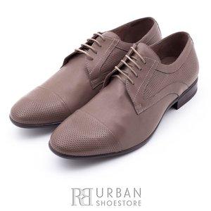 Pantofi eleganti barbati din piele naturala,Leofex - 113 cappuccino box