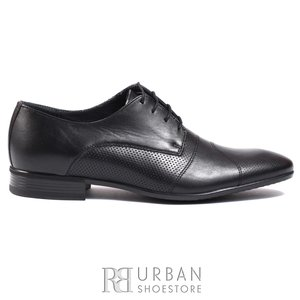 Pantofi eleganti barbati din piele naturala,Leofex - 116-2 negru