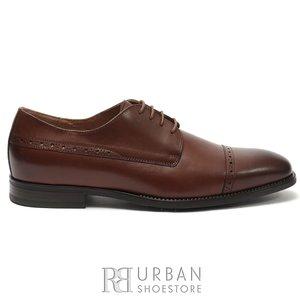Pantofi eleganti barbati din piele naturala, Leofex - 510 Cognac box