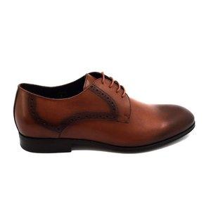 Pantofi eleganti barbati din piele naturala Leofex -512* Cognac Box