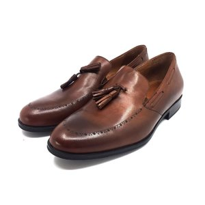Pantofi eleganti barbati din piele naturala,Leofex - 515 Cognac Box
