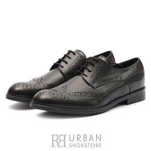 Pantofi eleganti barbati din piele naturala, Leofex - 516 Negru Box
