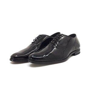 Pantofi eleganti  barbati din piele naturala, Leofex - 744-1 negru lac